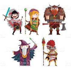 fantasy heroes Сток Вектор Стоковая фотография