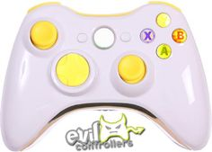 Glossy White with Chrome and Light Up Buttons!