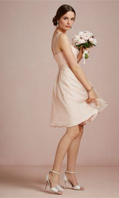 Champagne Wedding Bridesmaid Dresses-3
