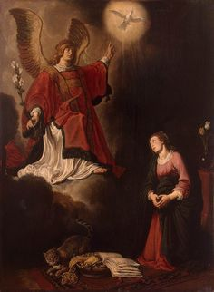 Annunciation (1618). Pieter Pietersz Lastman (Dutch, 1583-1633). Oil on panel. The Hermitage, St. Petersburg. Specialized in religious, historical, and mythological scenes. He went to Italy (c. 1604) and was influenced by Caravaggio - which makes him akin to the Utrecht School - and by Elsheimer. His forte was small figures in exotic and brightly-coloured costumes. He was back in Amsterdam by 1607. His real importance lies in the fact that Jan Lievens was his pupil in 1617 and Rembrandt in…