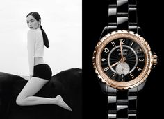 www.pegasebuzz.com | Fei Fei Sun by Patrick Demarchelier for Chanel L'Instant watch, spring-summer 2015.