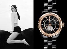 www.pegasebuzz.com | Fei Fei Sun by Patrick Demarchelier for Chanel L'Instant watch, spring-summer 2015.