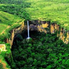 Waterfall, Mato Grosso, Brazil