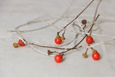 five fragile necklaces, nature letters from japan ( sakura? twigs and old glass german balls)