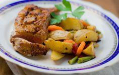 Warzywa po polsku ze złocistą piersią kaczki Tandoori Chicken, Meat, Ethnic Recipes, Food, Essen, Meals, Yemek, Eten