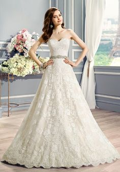 Chic Country Full A-Line Wedding Dress | Moonlight Couture H1283 | http://trib.al/Uwqw74i
