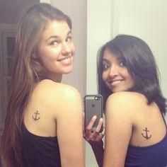 Best friend anchor tattoo, small tattoos