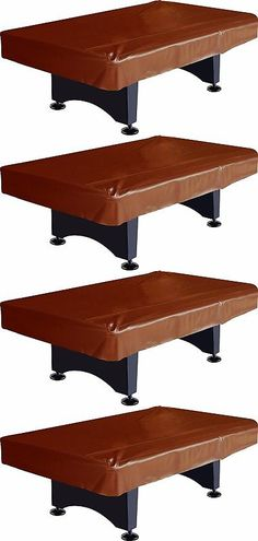Table Covers 91569: Pool Table Cover 8 Foot Heavy Duty Billiard Protector  Fitted Brown Naugahyde