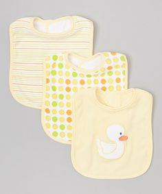 Look at this SpaSilk Yellow Duck Bib Set on #zulily today!