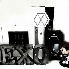 Lightstick Exo, Exo Kai, Suho, Kpop Diy, Exo Merch, Exo Album, Exo Lockscreen, Aesthetic Room Decor, Tumblr Rooms