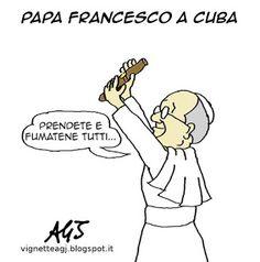 Accoglienza trionfale per Papa Francesco all'Avana