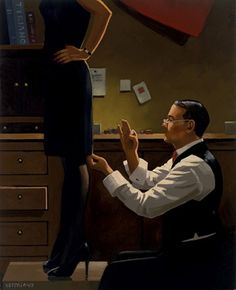 Jack Vettriano - The Devoted Dressmaker    The original painting was exhibited at the Days of Wine & Roses Exhibition