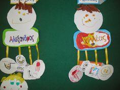 Της Τάξης και της Πράξης: Πρώτες μέρες στο Νηπιαγωγείο Little My, First Day Of School, Classroom Organization, Cartoon, Activities, Christmas Ornaments, Holiday Decor, Blog, Names