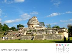 VIAJES DE LUNA DE MIEL. La cultura maya se vive en cada rincón del Caribe mexicano. Si vas a disfrutar de tu luna de miel en este lugar, aprovecha la oportunidad de maravillarte con la astronomía maya y visita el Observatorio El Caracol. Un sitio donde los antiguos astrónomos observaban a Venus aparecer por el oeste y desaparecer por el horizonte, todas las noches. Consulta nuestro sitio web y adquiere tu pack Booking Hello, para comenzar a hacer tu reservación. #bookinghello