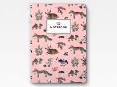 Forest Animals Notebook - Pink -. $16.00, via Etsy.