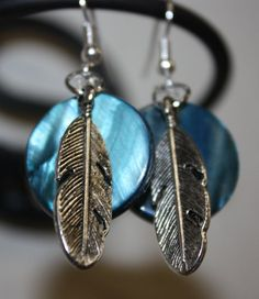 Silver Feather Earrings by CVJDesigns on Etsy, $3.00
