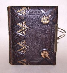 Antique Victorian Gilded Leather Photo Album