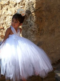 Gorgeous Flower Girl Princess Fully Lined Tutu by CHICLILLOVEBUGS, $72.00