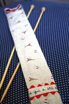 Knitting needle travel case