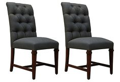 Florencia Tufted Side Chairs, Pair on OneKingsLane.com