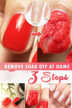 Magic Nail Polish Remover Taking off hard gel nail perfectly requires complex process and it's hard to remove unless you go to nail salon The post Magic Nail Polish Remover appeared first on nageldesign. Cute Nails, Pretty Nails, My Nails, Fall Nails, Do It Yourself Nails, How To Do Nails, Hard Gel Nails, Remove Gel Nails, Nail Remover