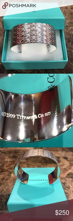 Wide cuff bracelet . Pre owned. In very good condition. No tarnishing. No trade Tiffany & Co. Jewelry Bracelets