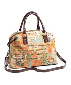 Brown & Orange 'Follow Your True North' Weekender   Daily deals for moms, babies and kids