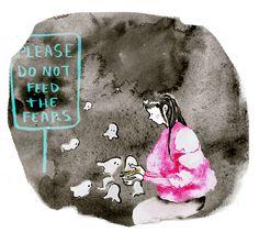 No alimentes tus miedos- Laura Izquierdo Illustration, Artists, Illustrations