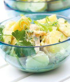 Lehký bramborový salát Cantaloupe, Potato Salad, Shrimp, Potatoes, Fruit, Ethnic Recipes, Fitness, Salads, Gymnastics