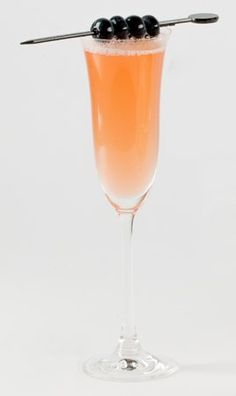 SOMETHING OLD  The Francois  From Ian Jones, Bubble Charlotte  Equal Parts: Smirnoff Blueberry Vodka Chambord Pineapple juice Brut Champagne  Combine equal parts of vodka, Chambord, and juice, shake on ice. Pour champagne over. Serve in a champagne flute and garnish with blueberries.