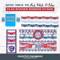 Scrapbook Borders, Scrapbook Cards, Christmas Border, Blue Flag, Borders And Frames, Paper Punch, Creative Memories, Border Design, Digital Scrapbooking