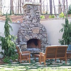 Fireplace in a cottage style