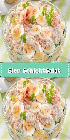 Best Egg Salad Recipe, Salad Recipes, Healthy Recipes, Chicory Salad, Boiled Ham, Grilled Side Dishes, Salad Cream, Low Fat Yogurt, Good Food