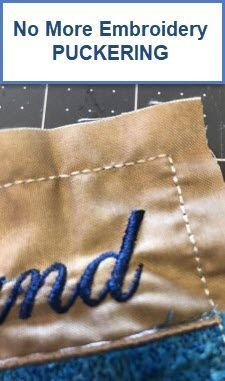 How to Stop Machine Embroidery Design Puckering