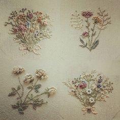 #вышивка#мулине#цветы#букетики#умелыеручки #длядуши #уют#нежность #натюрель#готоваяработа #прованс #хэндмэйд
