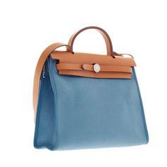 Hermes Herbag Leather and Canvas PM - Designer Handbag - Trendlee $1230 US