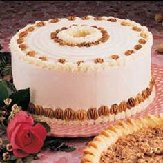 Chiffon Nut Cake Recipe -Chop hickory nuts to add rich taste and a subtle crunch to every slice. If you can't find hickory nuts, use pecans instead.—Taste of Home Test Kitchen, Greendale, Wisconsin