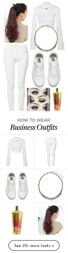 """""""An Angel In My Eyes"""" by emmalineavery on Polyvore featuring Off-White, Mother, Vans, Victoria's Secret and Sorrelli"""
