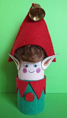 Little Elf Toilet Paper Roll Craft | Such a cute kids craft for Christmas!