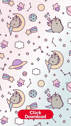 Pin by cenlicenz on pusheen (With images) | Unicorn wallpaper, Cat ... Iphone Wallpaper Moon, Cat Phone Wallpaper, Unicornios Wallpaper, Wallpaper Samsung, Wallpapers Kawaii, Kawaii Wallpaper, Funny Wallpapers, Unicorn Wallpaper Cute, Cute Wallpapers For Ipad
