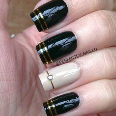 Diseño negro y beige