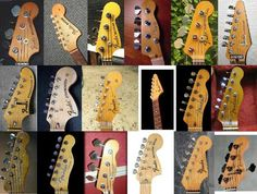 Electric Guitar Headstock Designs | Fender Headstocks