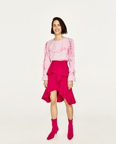 ZARA - WOMAN - FRILLED TOP