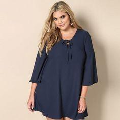 Half Sleeve Loose Minimalist Strap Neck Dresses