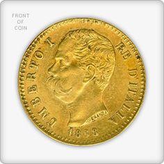 Italian 20 Lire Gold Coin