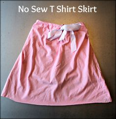 No Sew T Shirt Skirt Tutorial - easy and perfect for shoeboxes!