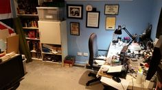 My Man Cave post mega-cleanup. There may or may not have been a flame thrower required.