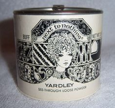 Vintage 1969 Yardley of London Next to Nothing See-Through Loose Powder Tin in Collectibles, Advertising, Health & Beauty | eBay