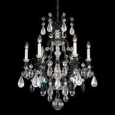 Schonbek Renaissance Rock Crystal 6 Light Chandelier   Wayfair