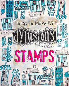 Featured Product Friday : Dylusions Stamps | Pluckingdaisies.com